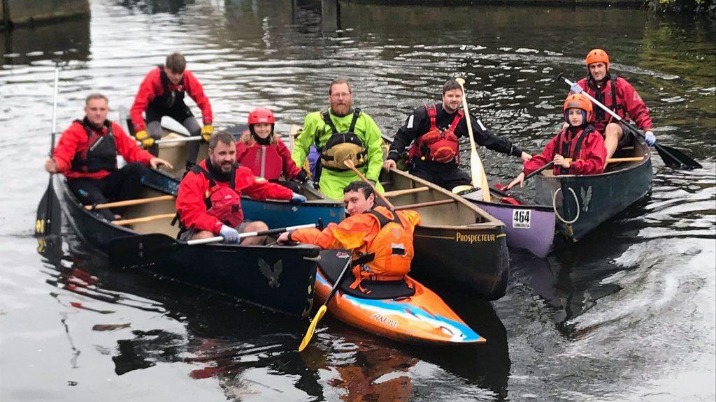 Canoeists Clean Up Mirfield